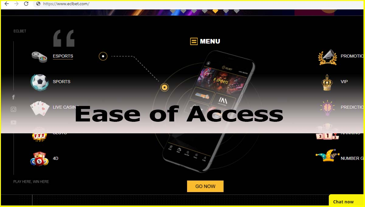 ECLBET Malaysia Ease of Access